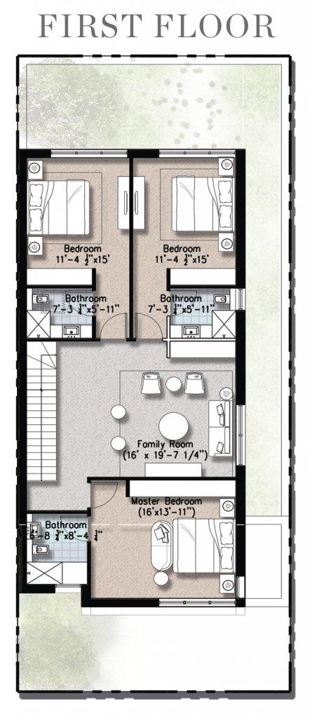 0.5 Kanal Floor Plan First Floor- Plan A