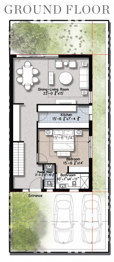 0.5 Kanal Floor Plan- Groud Floor- Plan A
