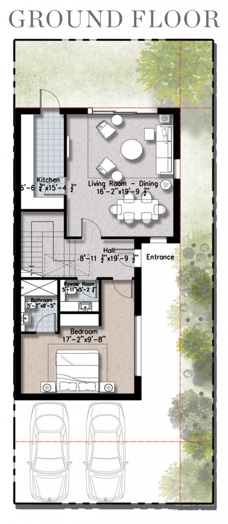0.5 Kanal Floor Plan- Ground floor- Plan B