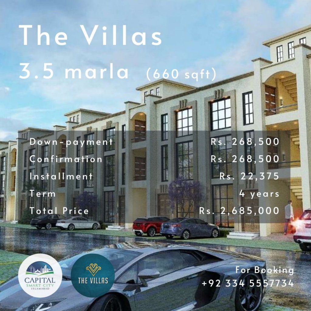 3.5 marla villa in capital smart city