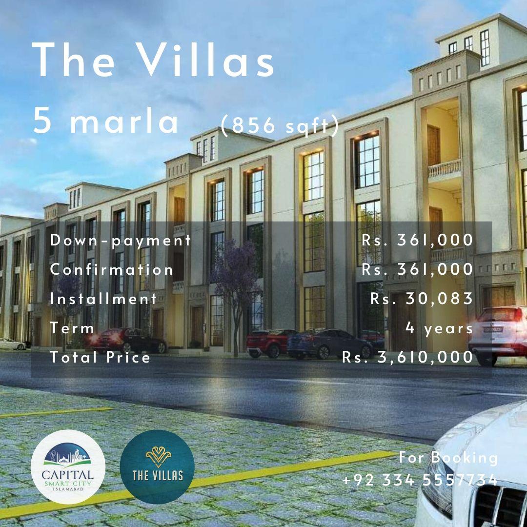 5 marla villa apartment in Capital Smart City