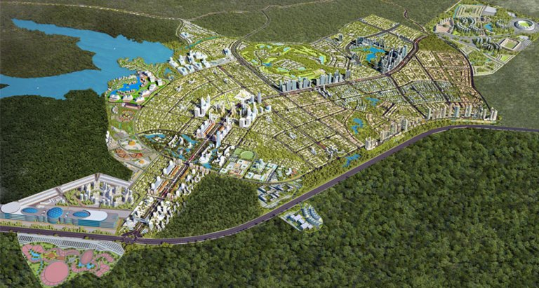 The master plan of Capital Smart City, consisting of residential properties, smart villas, and farmhouses