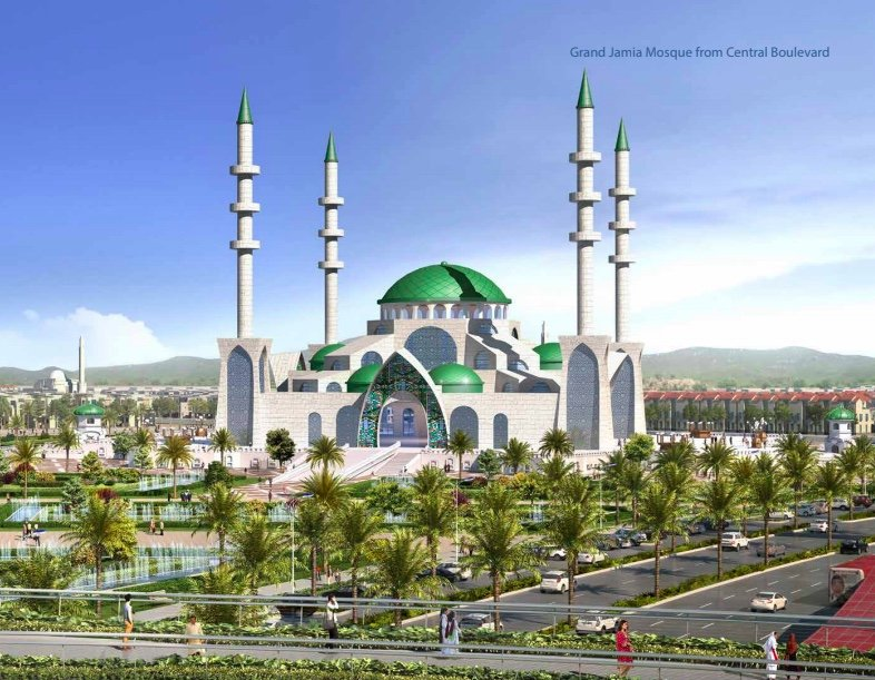 Jamie Masjid of Capital Smart city, the biggest Mosque in society