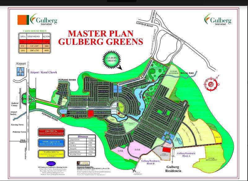 Gulberg Greens Master plan