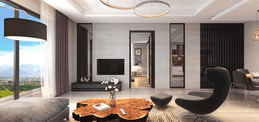 exquisite interior of apartment in Prism Heights Gulberg