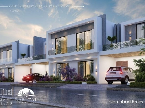 contemporary Smart Villas - 7 marla