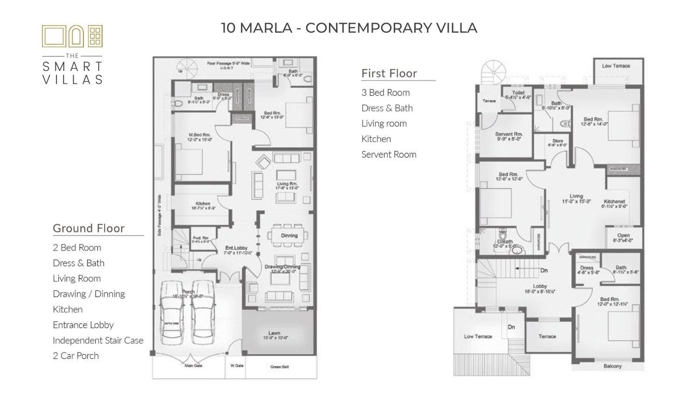10 Marla Smart Villa - Contemporary Style
