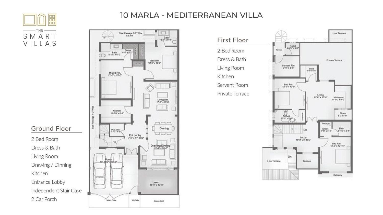 10 Marla Smart Villa - Mediterranean Style (Capital Smart City)
