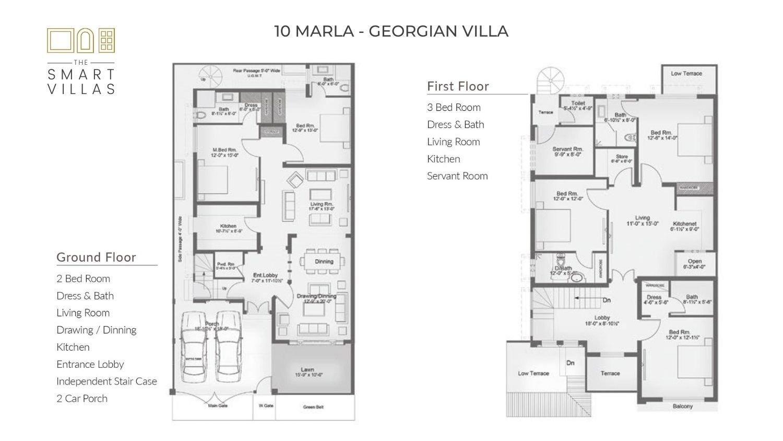 10 Marla Smart Villa - Georgian Style