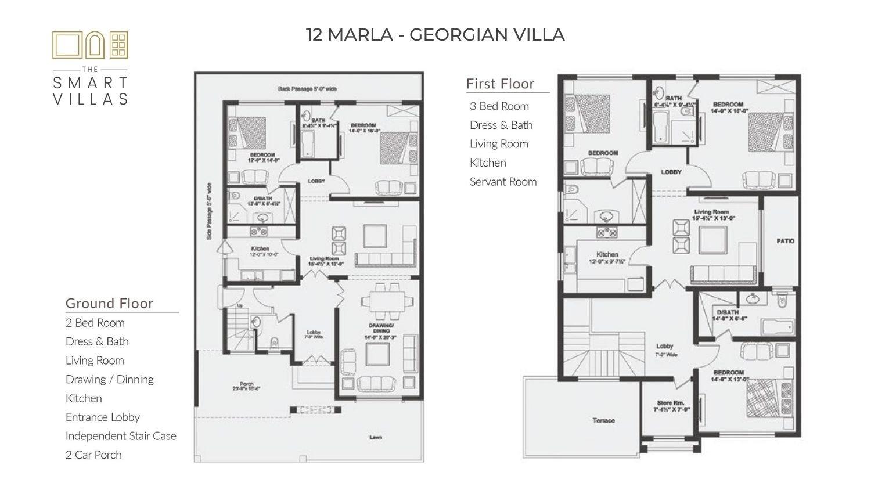 12 Marla Smart Villa - Georgian Style