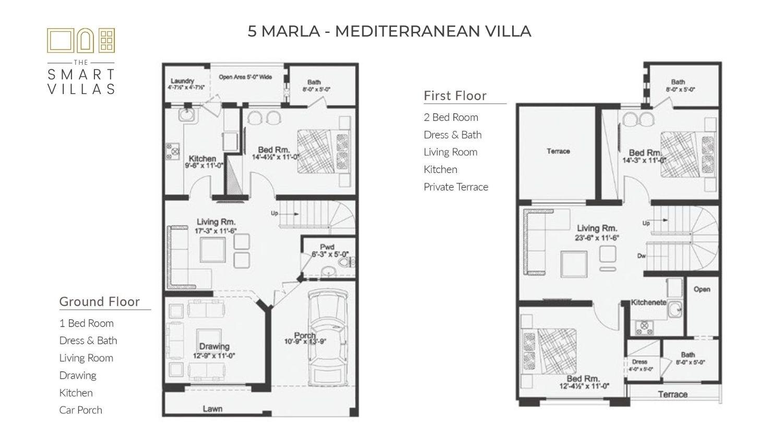 5 Marla Smart Villa - Mediterranean Style (Capital Smart City)