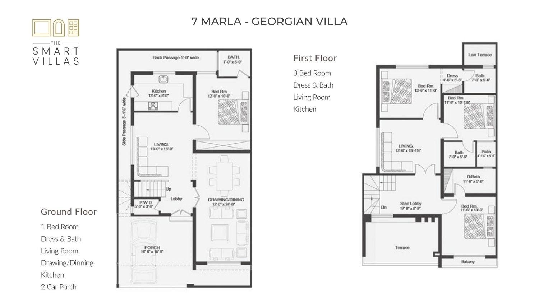 7 Marla Smart Villa - Georgian Style
