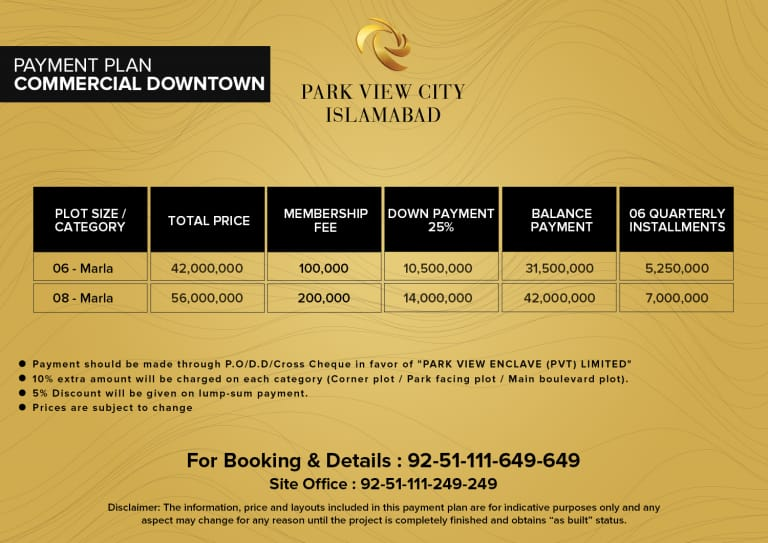 Commercial downtown - Payment Plan