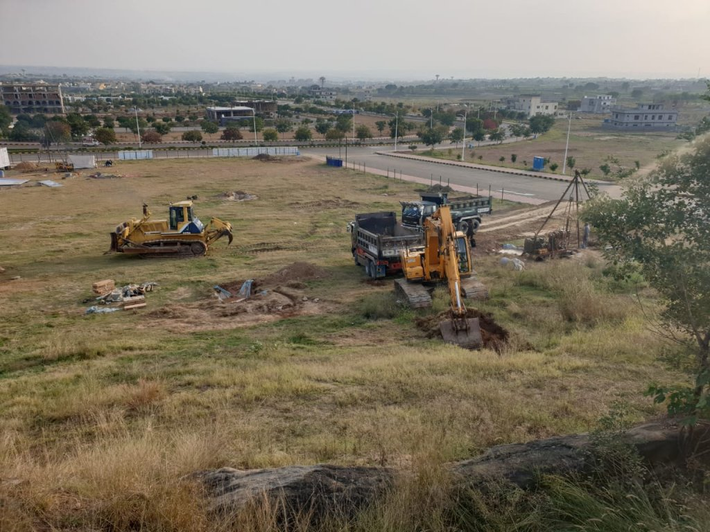 excavation started for the first commercial project in gulberg residencia