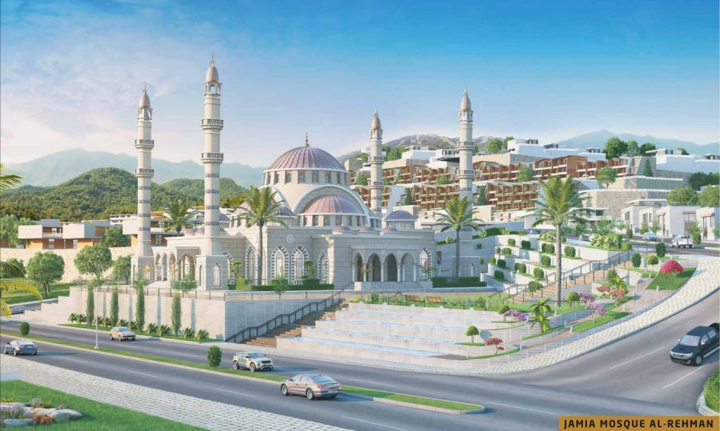 grand mosque in park view city islamabad designed with Turkish influence