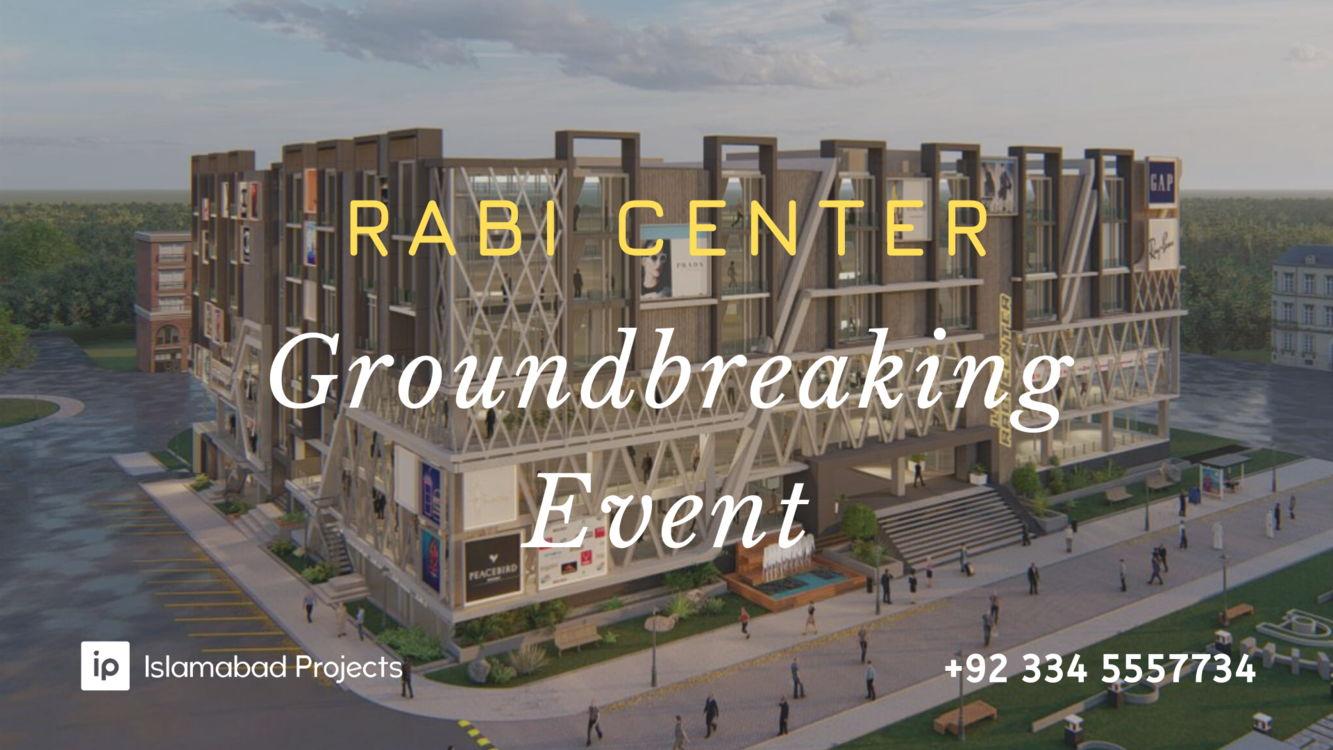 gulberg rabi center groundbreaking development work started
