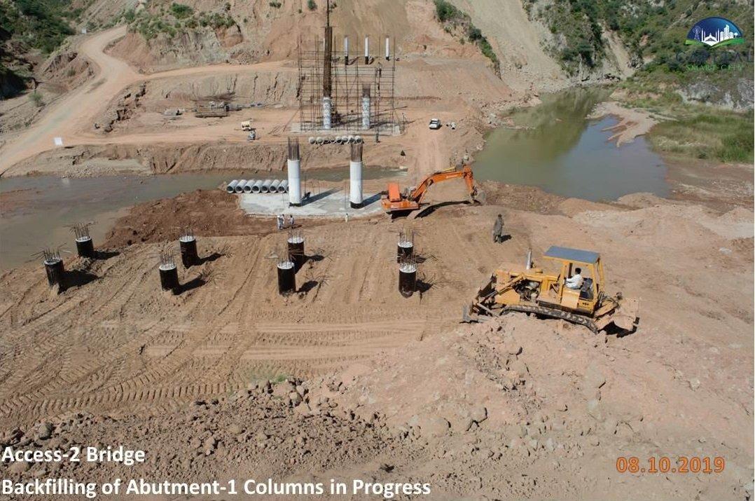 Development work of CSC bridge moves rapidly.
