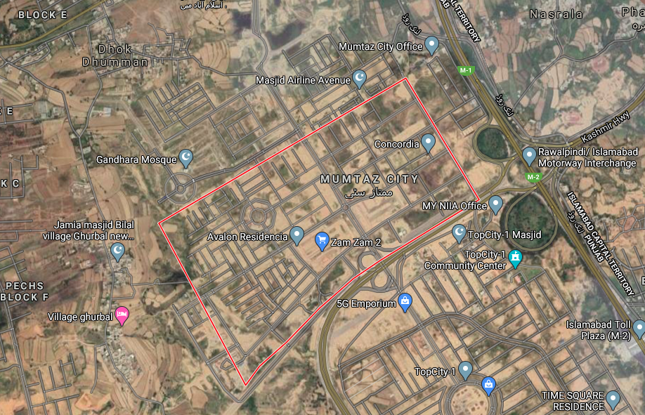 Mumtaz city on google map location