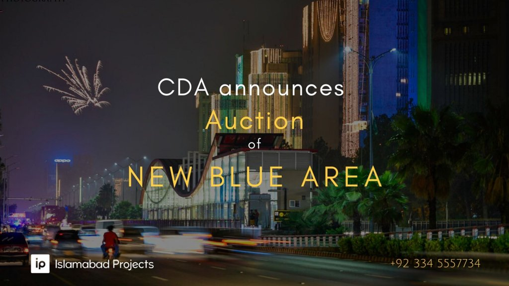 new blue area islamabad auction by cda