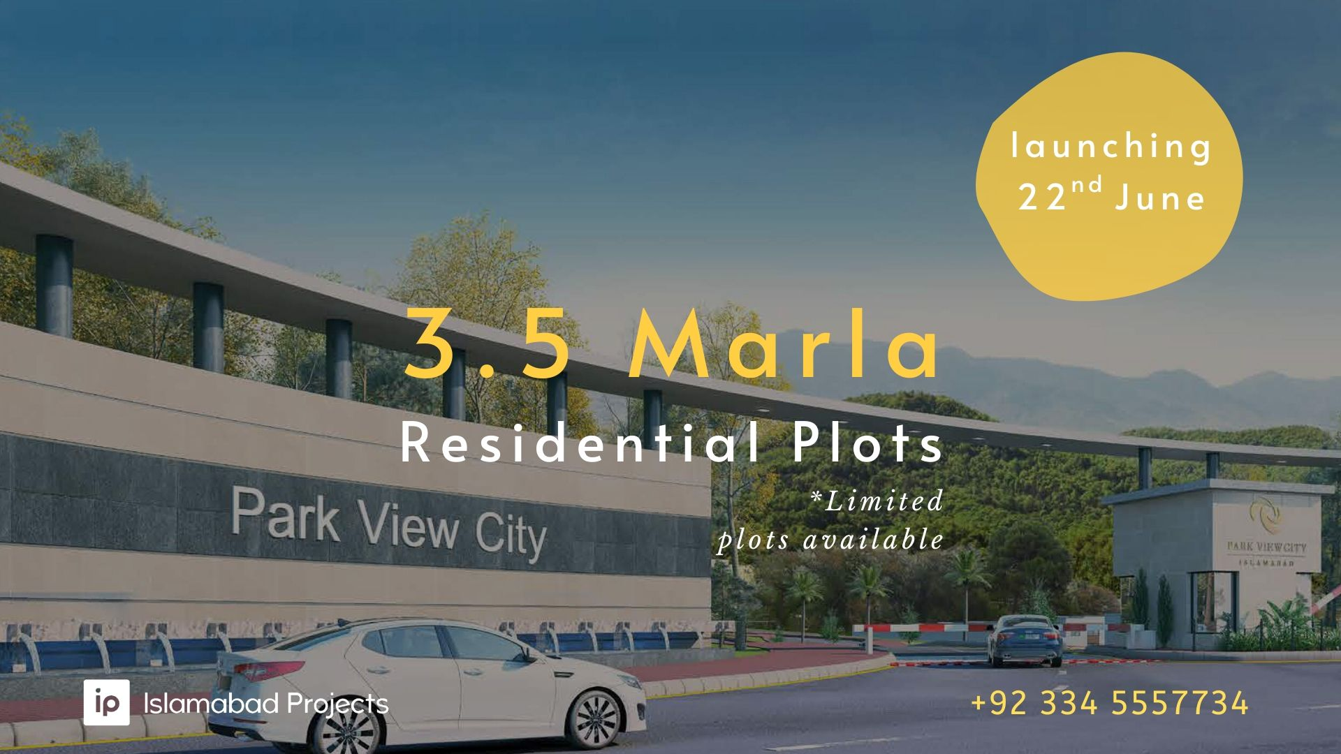 park view city has launched 3.5 marla residential plot
