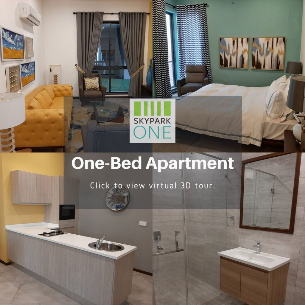 skypark one one-bed apartment in gulberg greens