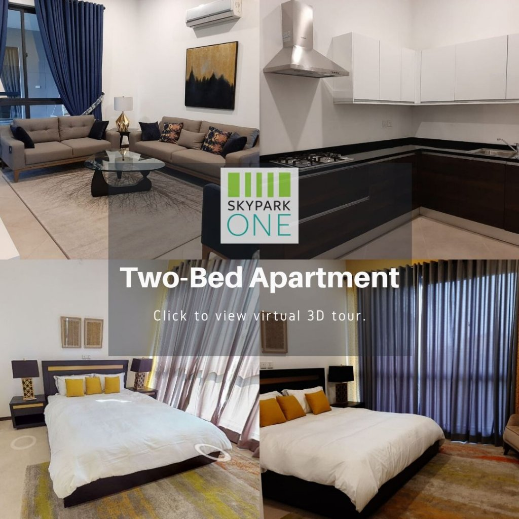 skypark one two-bed apartment in gulberg greens