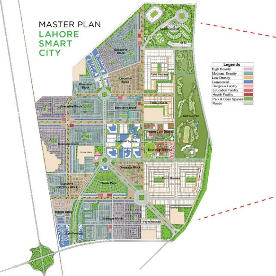 lahore smart city master plan and excellent location