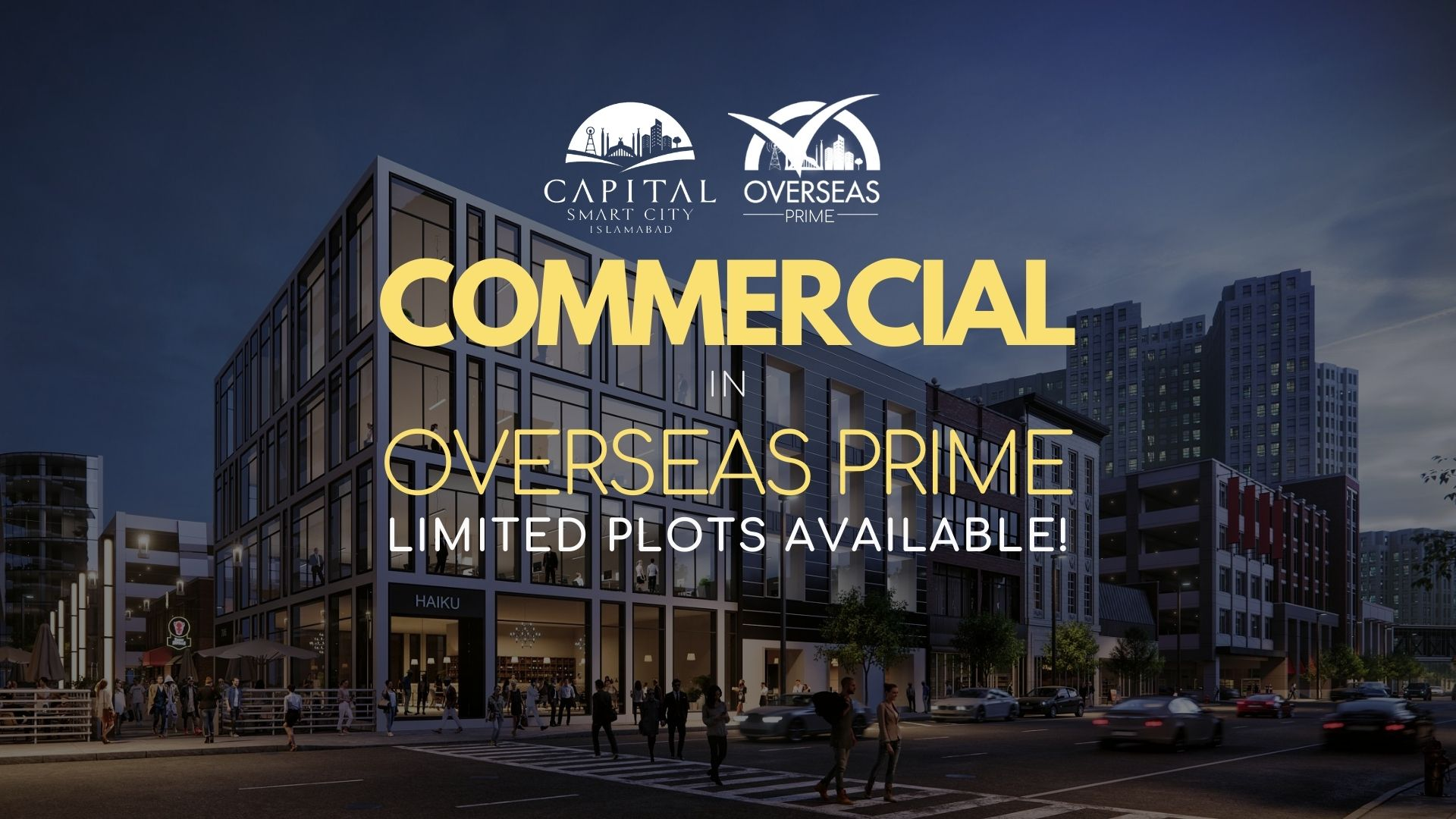 commercial plot launched in overseas prime - special discount