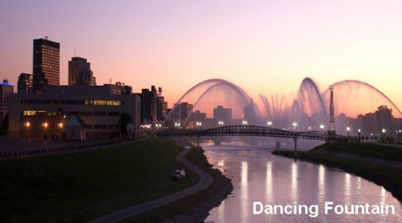 dancing fountain in capital smart city