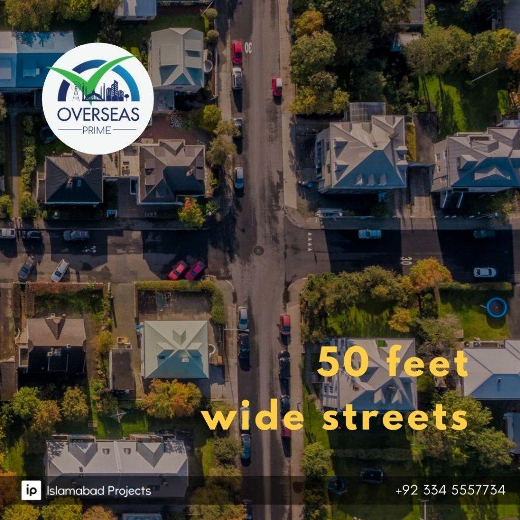 overseas prime block in capital smart city offers 50 feet wide streets