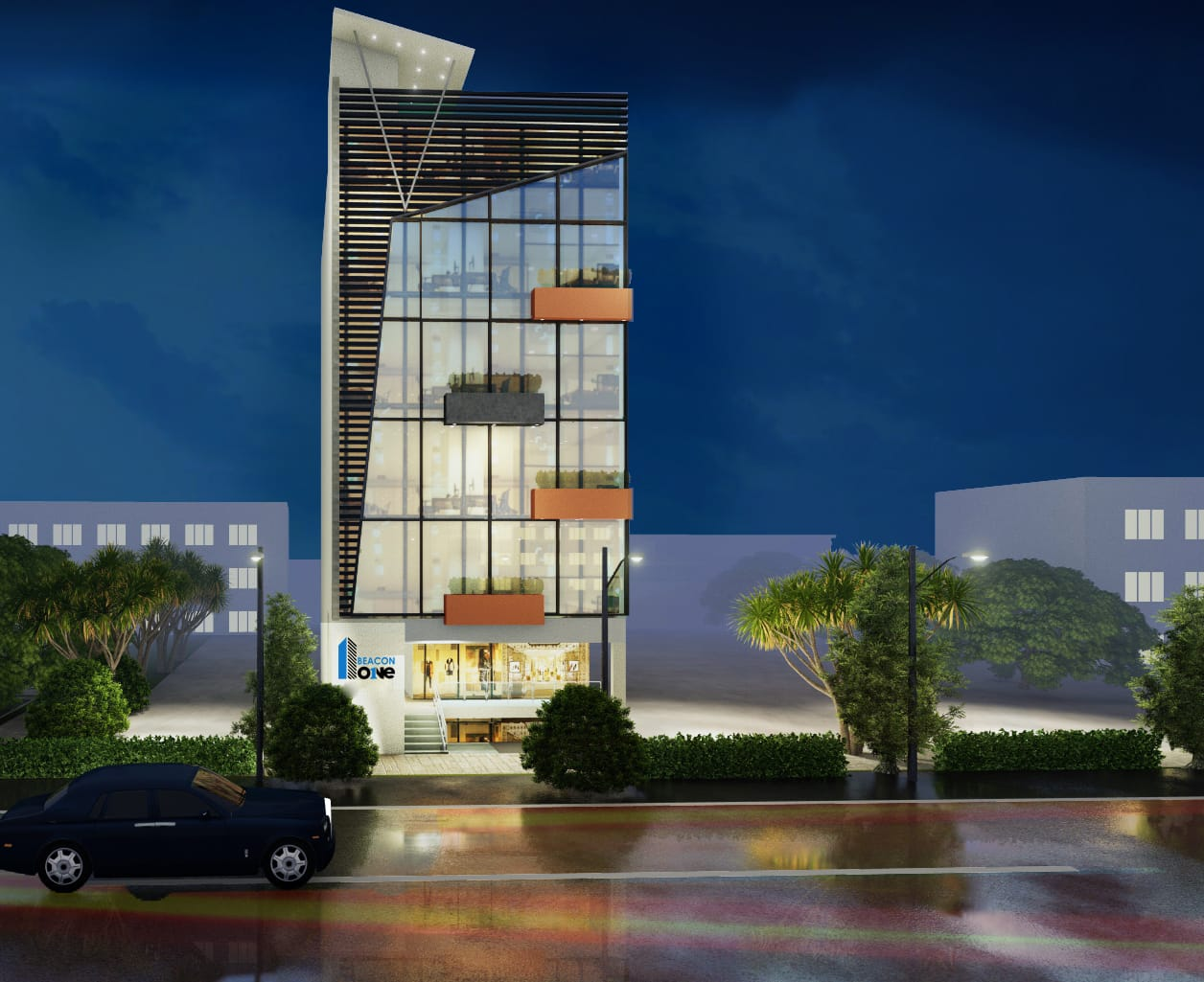 beacon one-bahria paradise islamabad- commercial and coporate project by beacon investment
