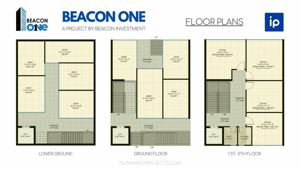 Beacon One Bahria Paradise - Floor Plans
