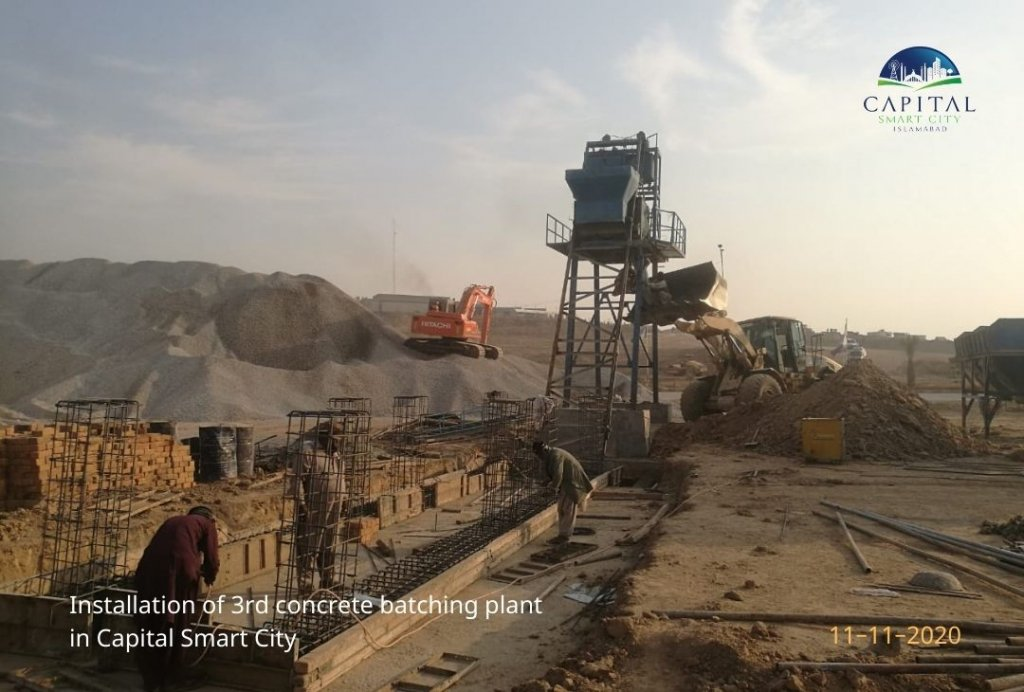 capital smart city - installation of 3rd concrete batching plant