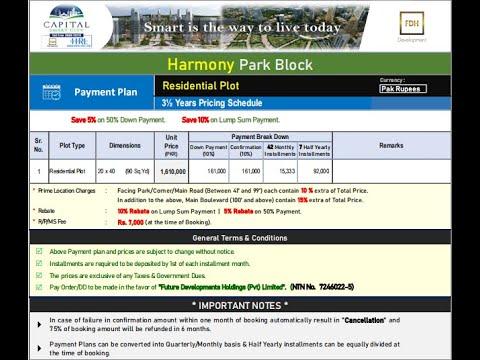 3.5 Marla- Payment Plan - Harmony Park Block