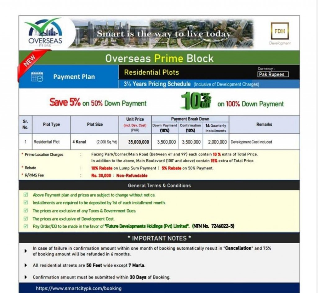 Overseas Prime Block Residential plots