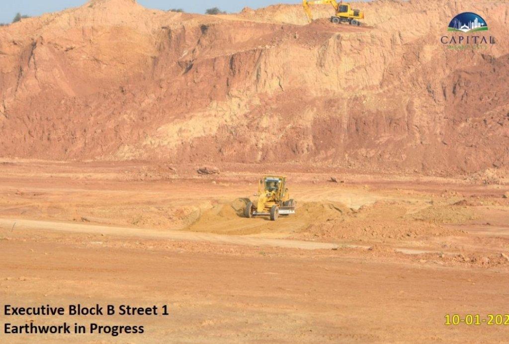 Executive block B-street earthwork-capital smart city