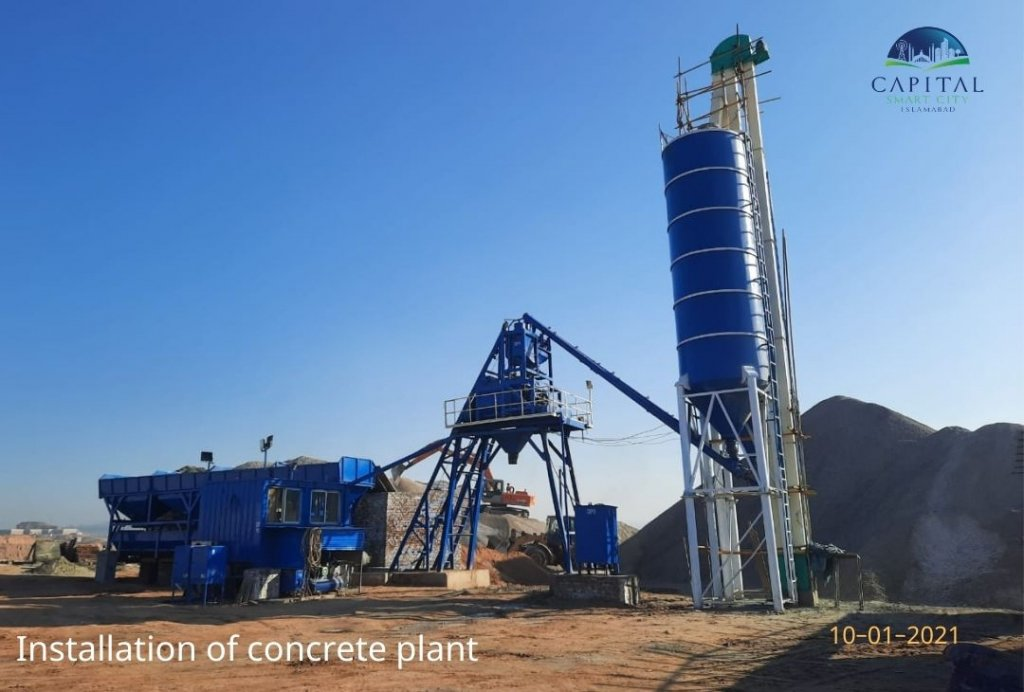 installation concrete plant-capital smart city islamabad