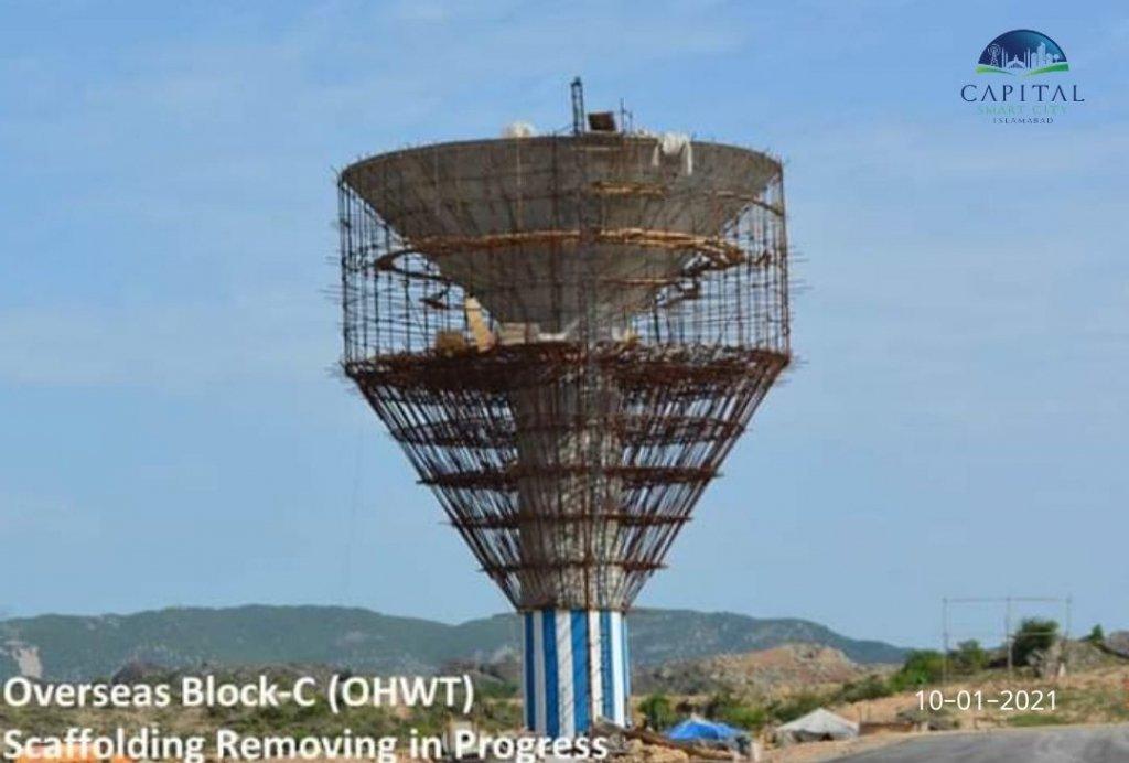 scaffolding removing-overseas block C-capital smart city islamabad