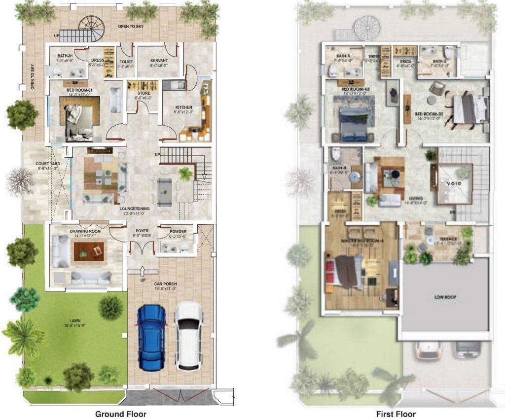12 Marla- Floor Plan A