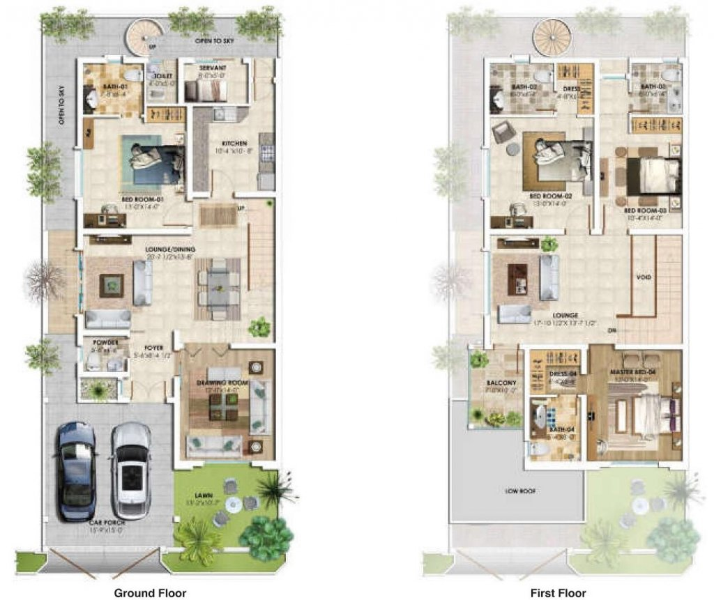 9 Marla - Floor Plan