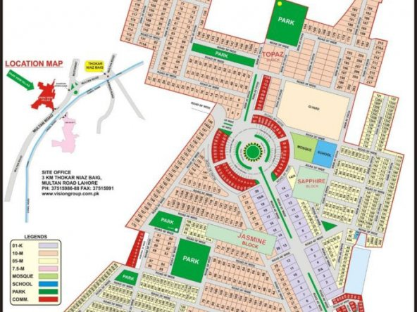 Park View City Lahore - Master Plan