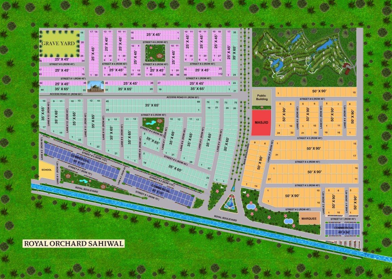 Master plan - Royal Orchard Sahiwal