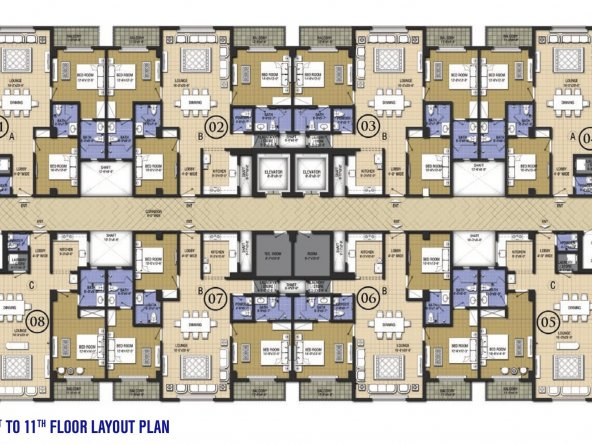 Chic 2-1- 11 floor plan layout