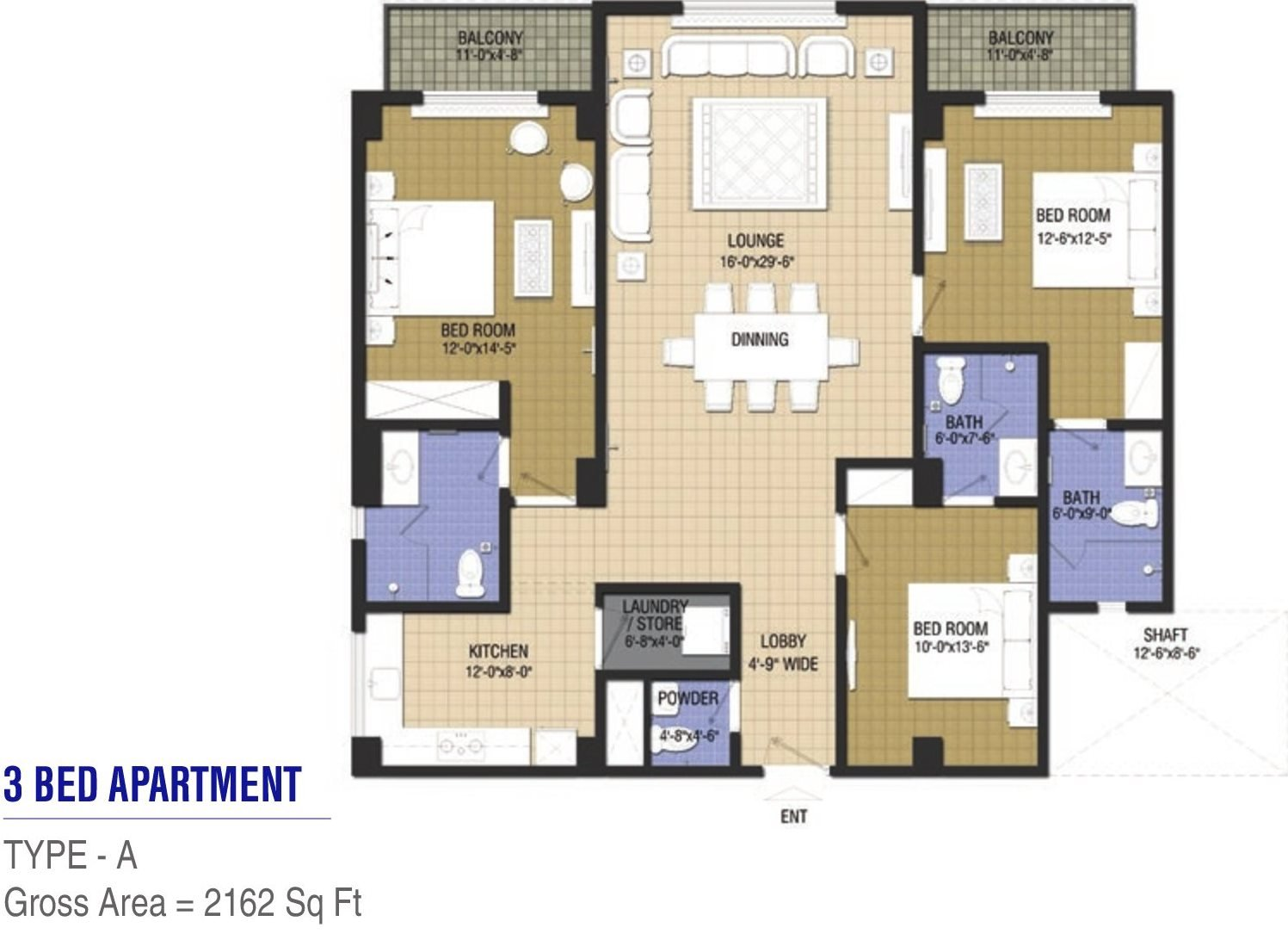 Goldcrest Chic 2 - 3 bed - Type A