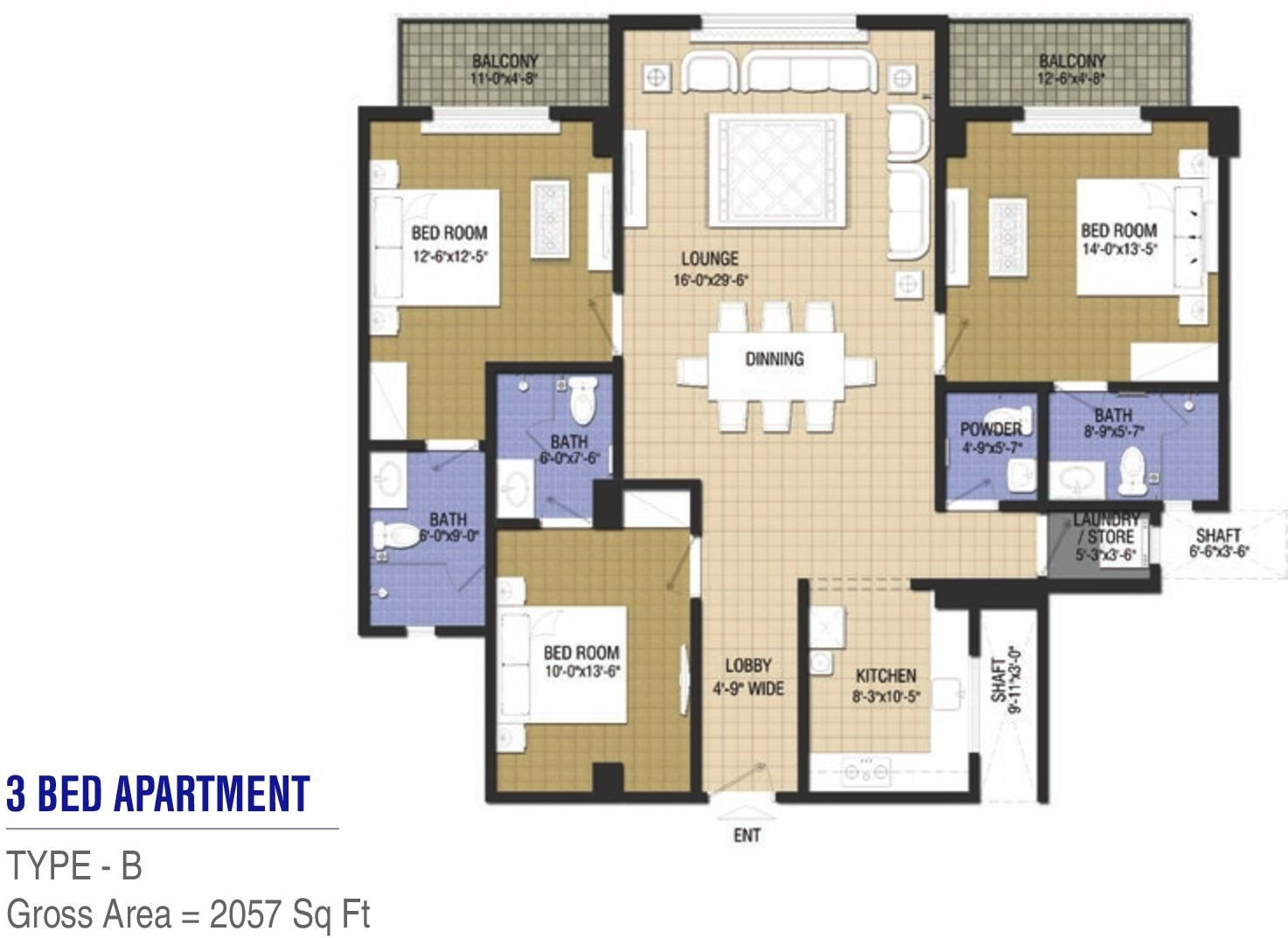 Goldcrest Chic 2 - 3 bed - Type B