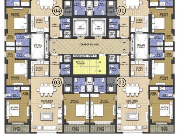 Chic 3- 1-11 floor plans