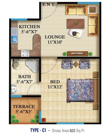 Highlife 2 & 3 - 1 bed - Type C1