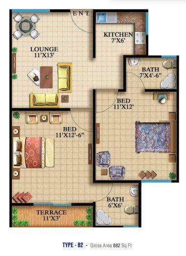 Highlife 2 & 3 - 2 bed - Type B2