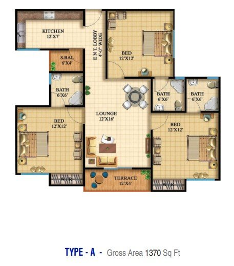 Highlife 2 & 3 - 3 bed - Type A