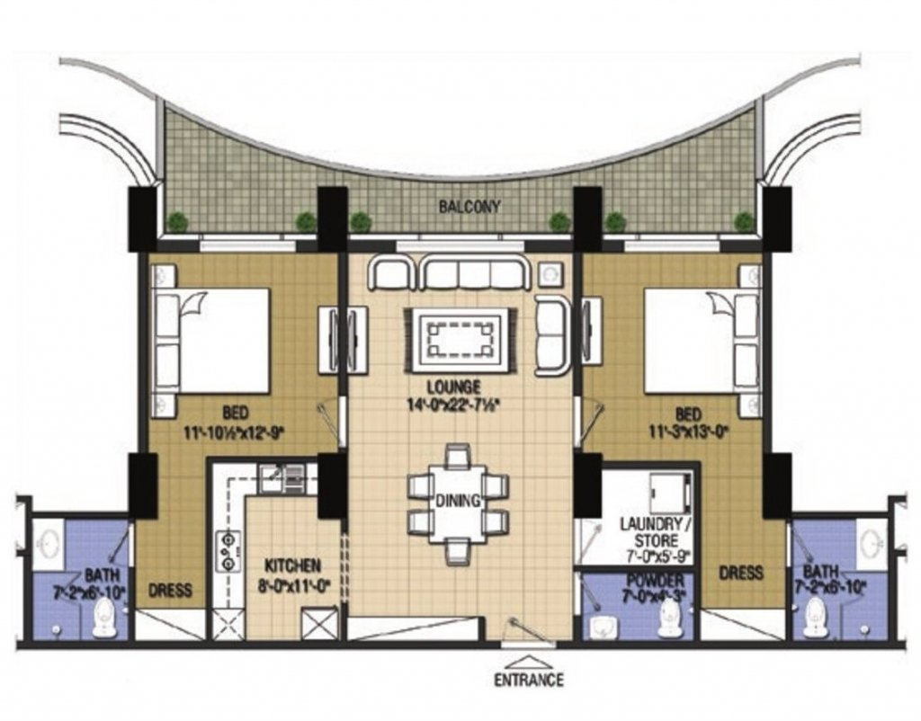 Highlife1-2-bed-type-H